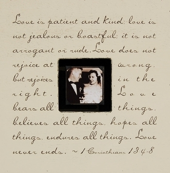 Love is Patient and Kind square picture frame